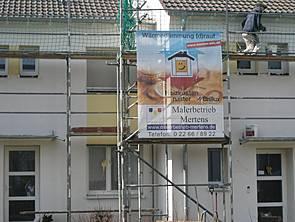 Fassadendämmung material test